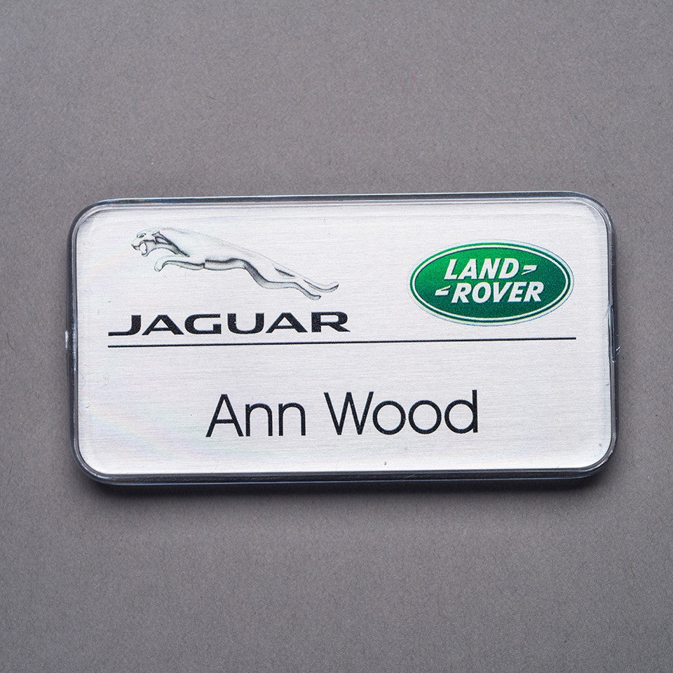 Domed Name Badge - Name/Logo