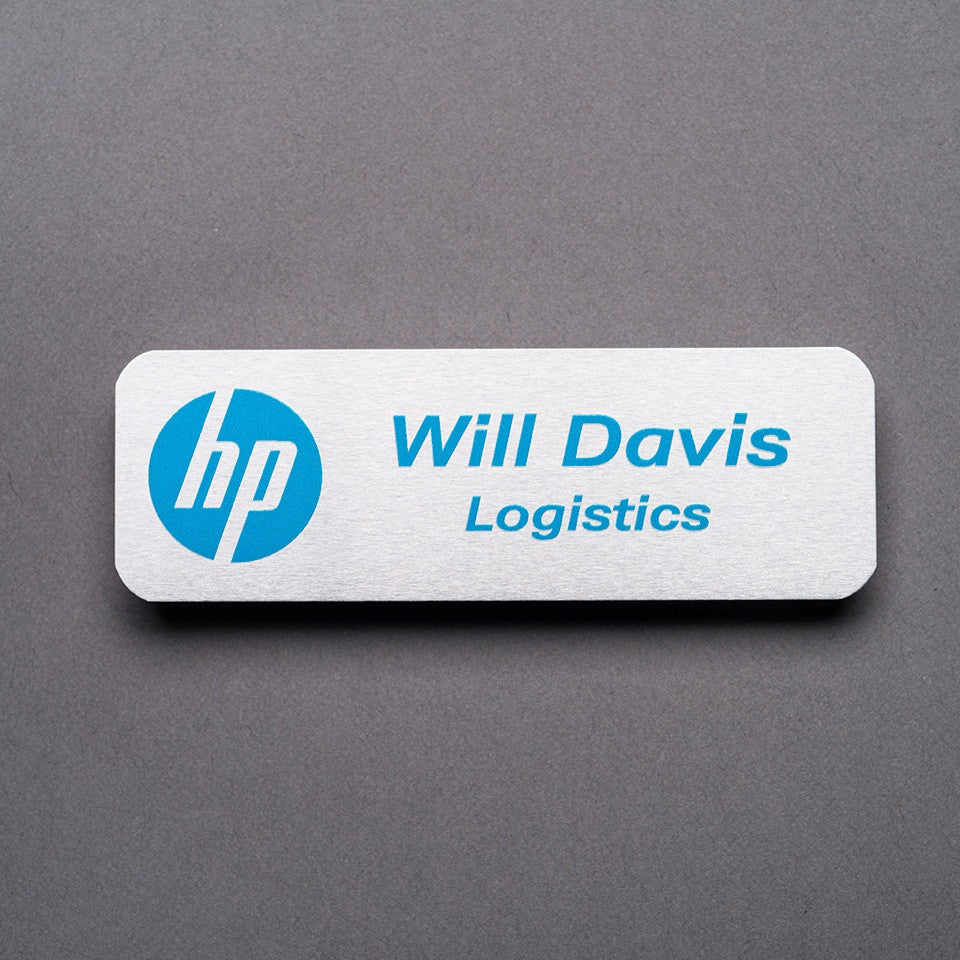Metal Name Badge - Name/Logo