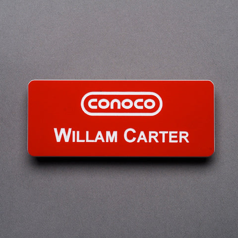 Plastic Engraved Name Badge - Name/Logo