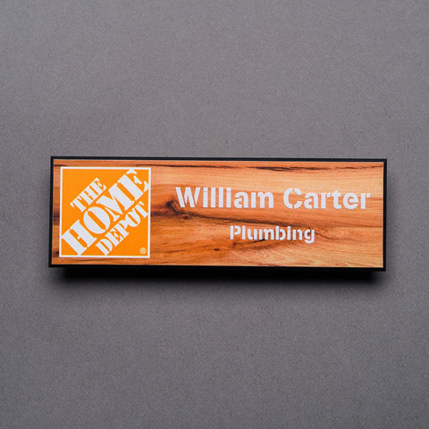 Plastic Printed Name Badge - Name/Logo