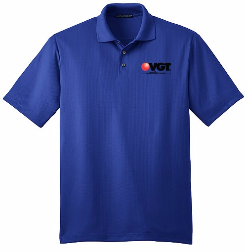 VGT Men's Port Authority Performance Fine Jacquard Polo Shirt  (K528)