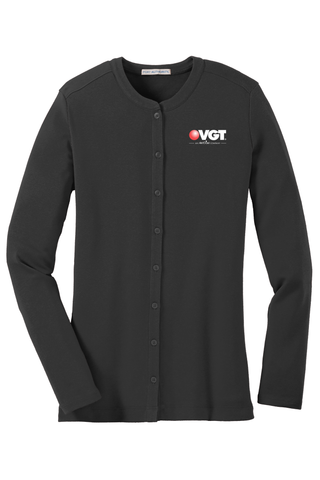VGT Port Authority Ladies Concept Stretch Button-Front Cardigan  (LM1008)