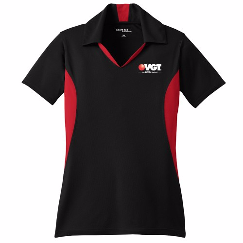 VGT Sport-Tek Ladies Side Blocked Micropique Sport-Wick Polo  (LST655)