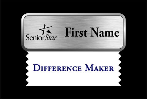 Senior Star Name Badge Ribbon (Difference Maker)