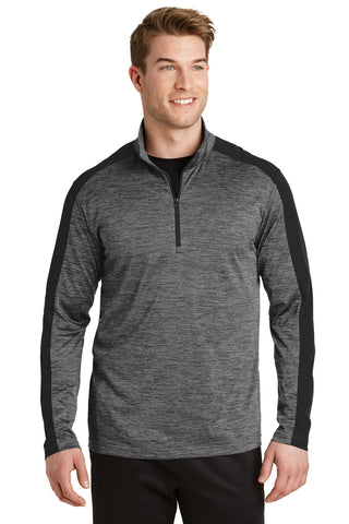 VGT Field - ST397 Sport-Tek® PosiCharge® Electric Heather Colorblock 1/4-Zip Pullover
