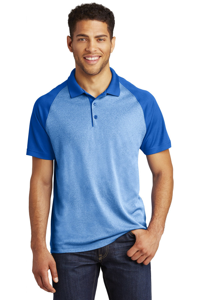 VGT Field - ST641 Sport-Tek® PosiCharge® RacerMesh® Raglan Heather Block Polo