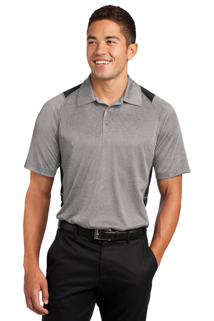 VGT Field - ST665 Sport-Tek® Heather Colorblock Contender™ Polo