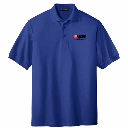 VGT Men's Port Authority Silk Touch Polo Shirt
