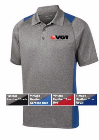 VGT Sport-Tek - Heather Colorblock Contender Polo  (ST665)