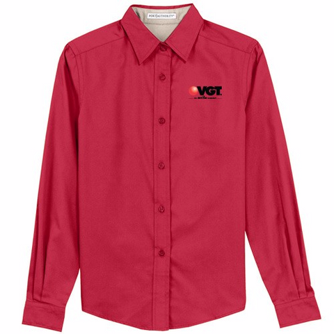 VGT Port Authority Ladies' Easy Care Long Sleeve Shirt  (L608)