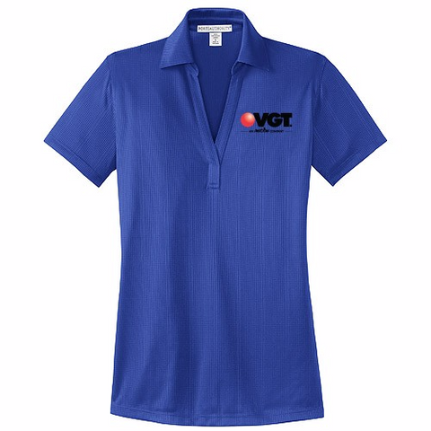 VGT Port Authority Ladies Performance Fine Jacquard Polo  (L528)