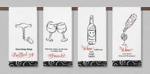 Wine Makes Me Happy Kitchen Towel