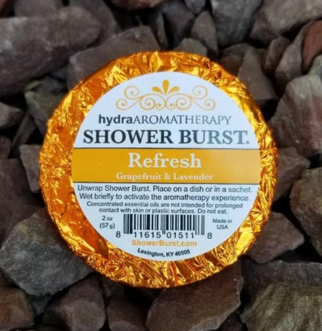 Refresh Aromatherapy Grapefruit Lavender Shower Steamer Burst