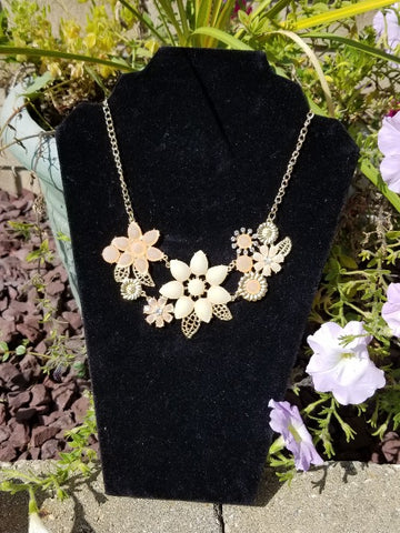 Rose Gold Flower Choker Necklace