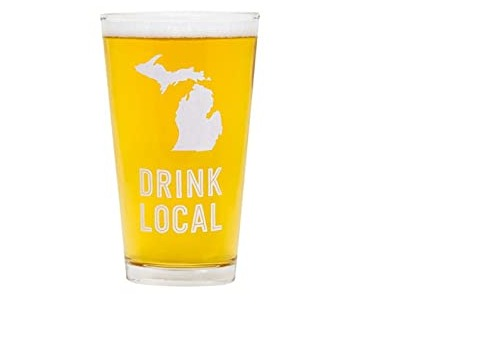 Michigan Standard Pint Glass