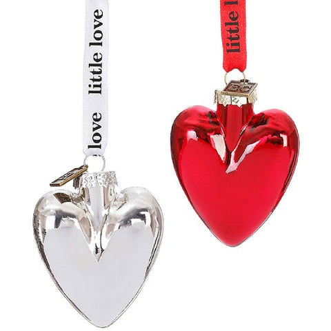 Eric Cortina Set of Two 2.5 inch Heart Ornaments