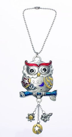 Multi Color Owl Rear View Mirror Car Charm