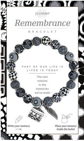 Remembrance Stretch Memory Beaded Bracelet