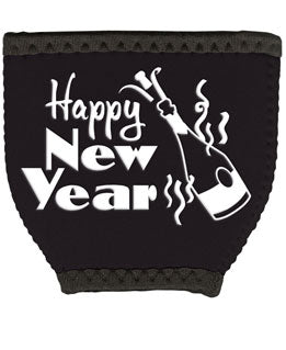 Happy New Year Woozie Coozie Glovie Insulator