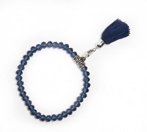 Glass Crystal Stretch Bracelet Blue