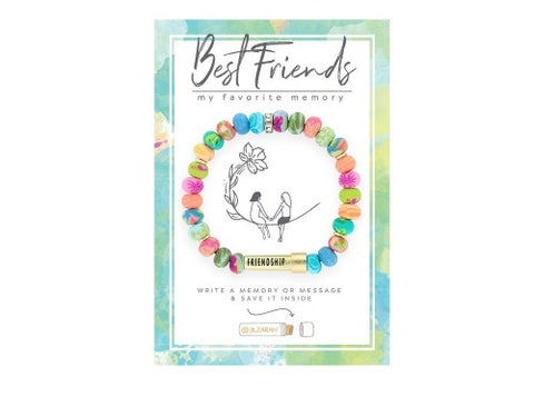 Best Friends Clay Beaded Memory Stretch Bracelet