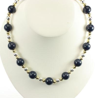 University of Michigan Stretch Beaded Necklace