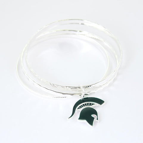 Michigan State University Logo Bangle Bracelelt