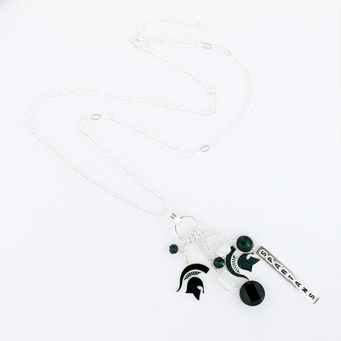 Michigan State University Cluster Necklace