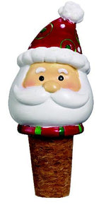 Santa Claus Christmas Wine Bottle Cork Stopper Topper