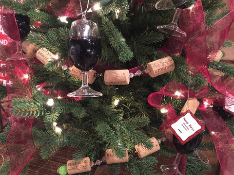 Wine Cork  Christmas Tree Garland 6 Ft Long