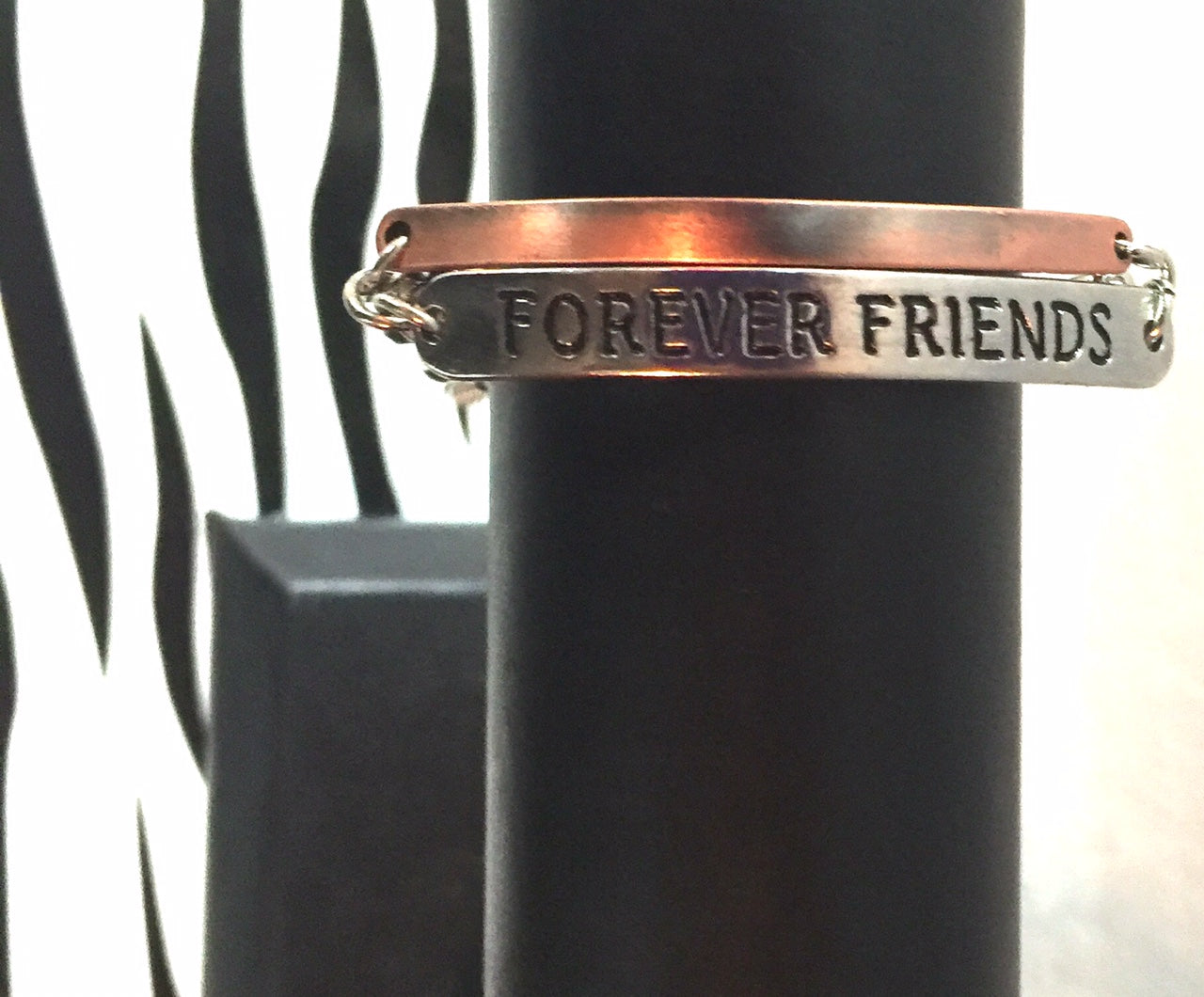Forever Friends Mixed Metal Chain Link Bracelet