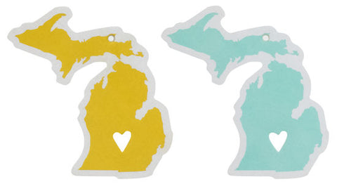 State of Mine Michigan Car Air Refresher Set of Two