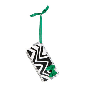 Zebra Stripe Clutch Purse Christmas Ornament