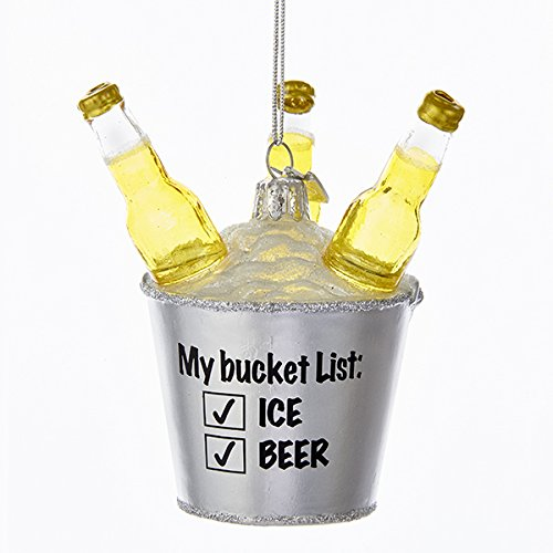 My Beer Bucket List Glass Christmas Ornament