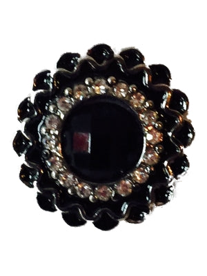 Black with Black Tips Snap Interchangeable Jewelry