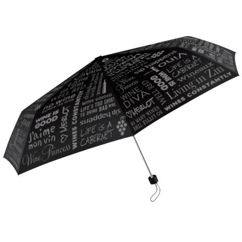 Wine Lovers Black Designer Umbrella
