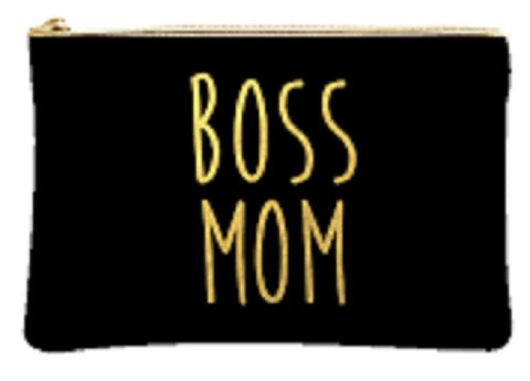 Boss Mom Cosmetic Make up Pouch Bag