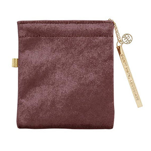 Champagne Velvet Cord Pouch