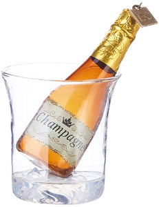 Eric Cortina Ice Bucket with Champagne Glass Ornament