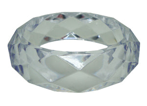 Clear Faceted Acrylic Bangle Bracelet
