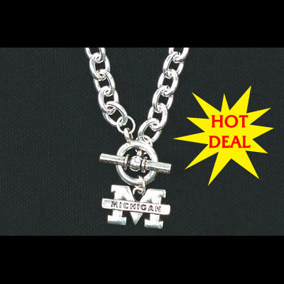 University of Michigan Chain Logo Necklace