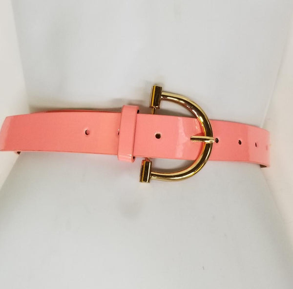 Vegan Coral Faux Leather Belt