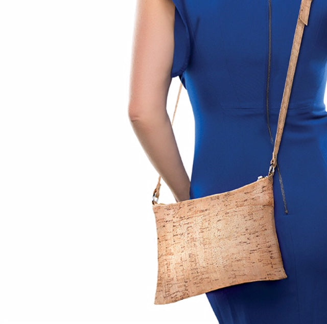 Recycled Wine  Cork Shoulder Bag Crossbody Purse