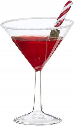 Christmas Cocktail Martini 5.5 inch Ornament