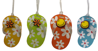 Flip Flop Luggage Tag - Daisies