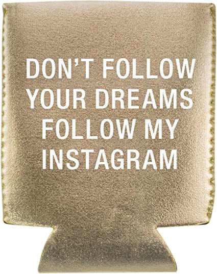 Don't Follow Your Dreams Follow My Instagram Can Coozie