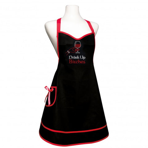 Group Therapy Sweetheart Style Rhinestone Wine  Apron