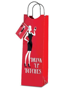 Drink Up Bitches Paper Wine Gift Bag