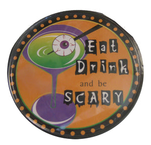 Halloween Wine Coaster Set Eat Drink and Be Scary!