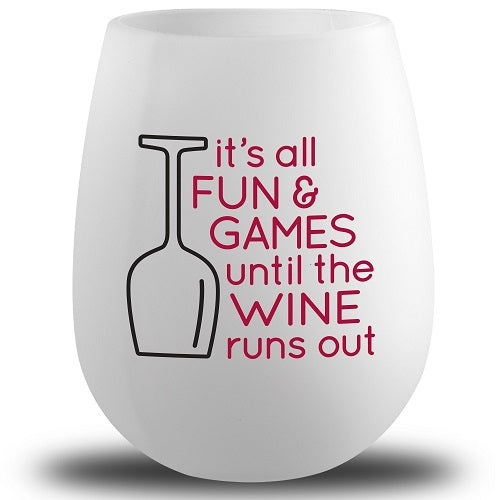 Silicone It's All Fun and Games Wine Glass